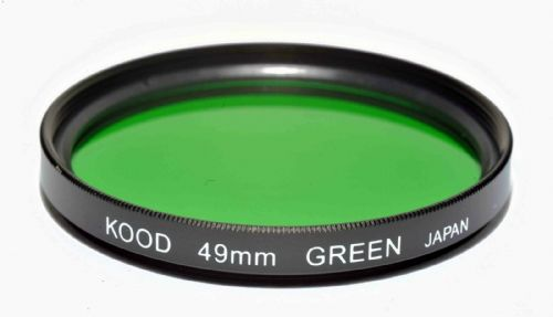 Kood High Quality Optical Glass Green Filter Made in Japan 49mm